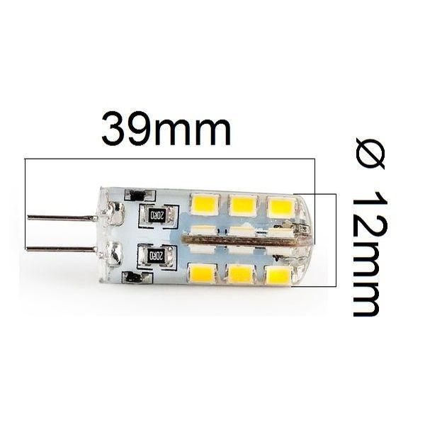 LED žárovka G4 3,2W 300lm 12V teplá, ekvivalent 30W