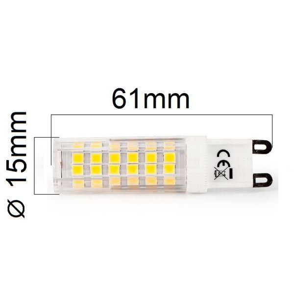 LED žárovka G9 6,8W 620lm, denní , ekvivalent 52W