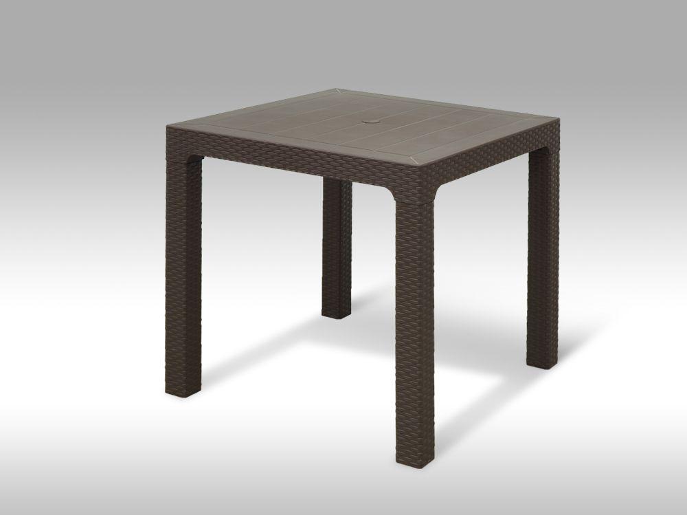 Plastový zahradní stůl Granada hnědý