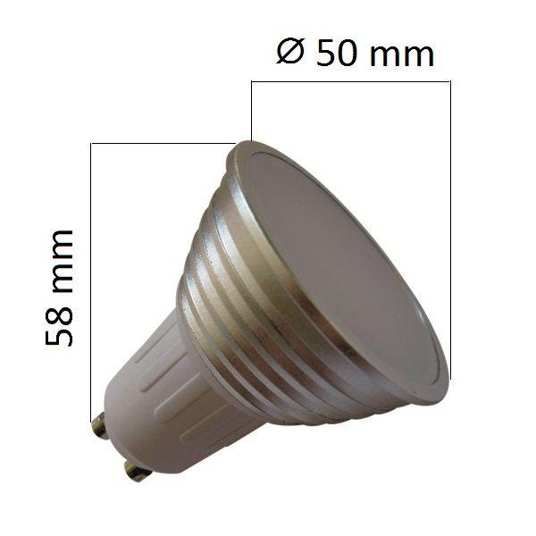 LED žárovka GU10 4W 400 lm teplá, ekvivalent 35W