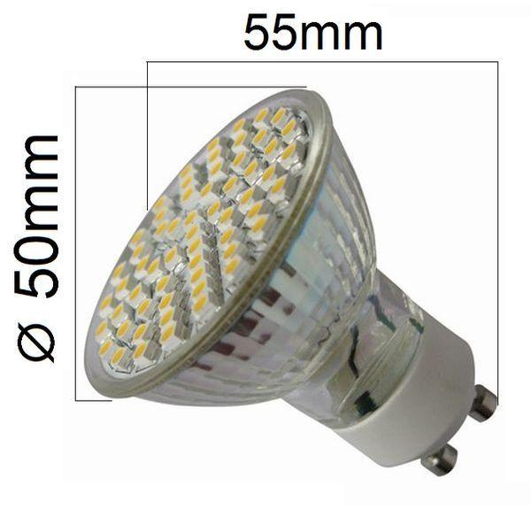 LED žárovka GU10 3,5W 280 lm teplá, ekvivalent 30W