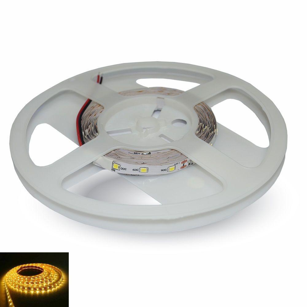 LED pásek 60x3528 smd 3,6W/m, žlutá, délka 5m