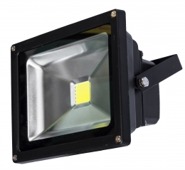 LED reflektor černý 50W 3250lm COB teplá