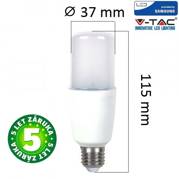 Prémiová LED žárovka E27 SAMSUNG čipy 8W 725lm teplá
