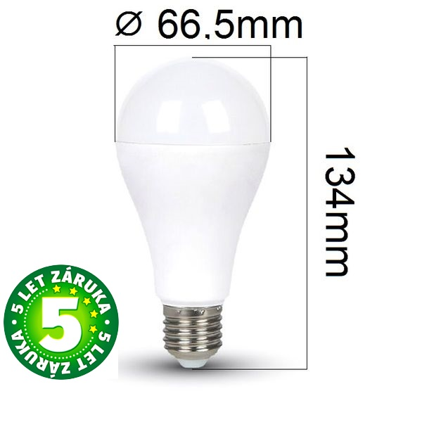 Prémiová LED žárovka E27 SAMSUNG čipy 15W 1250lm, denní