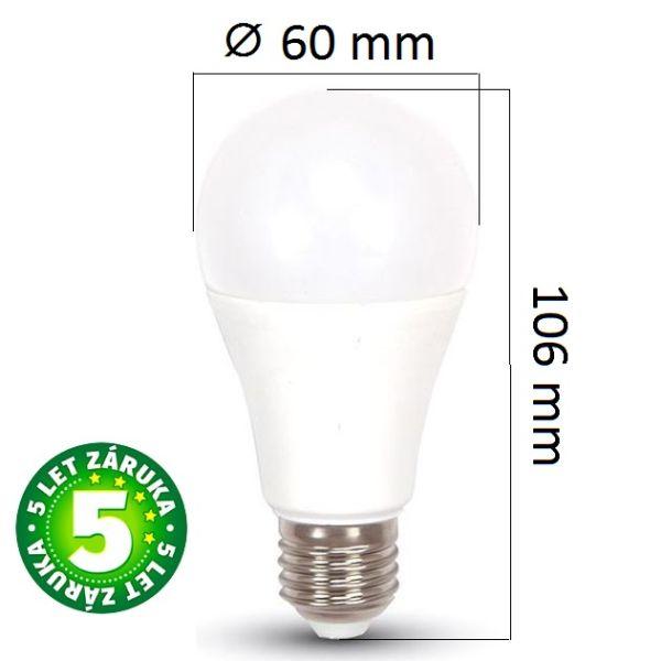 Prémiová LED žárovka E27 SAMSUNG čipy 11W 975lm teplá