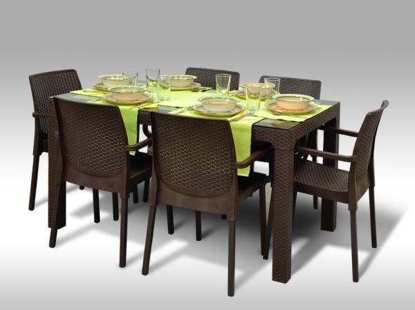 Jídelní sestava Madrid + 6 židlí Cordoba