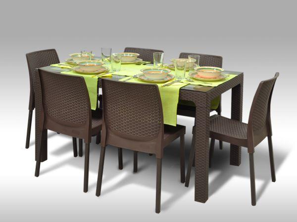 Jídelní sestava Madrid + 6 židlí Malaga