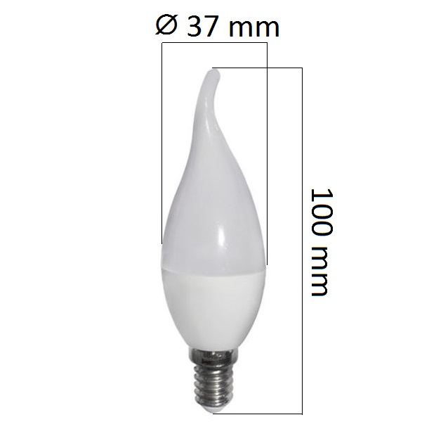 LED  žárovka  E14 6W 480lm, studená, ekvivalent 40W
