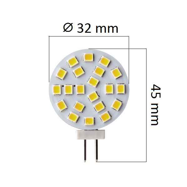 LED žárovka G4 2,4W 180lm 12V teplá, ekvivalent 18W