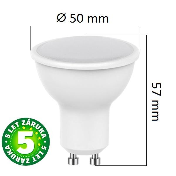 Akce: LED žárovka  GU10 5W 320lm, denní 3+1
