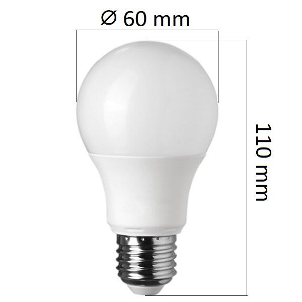 LED  žárovka E27 7W 560lm teplá, ekvivalent 50W