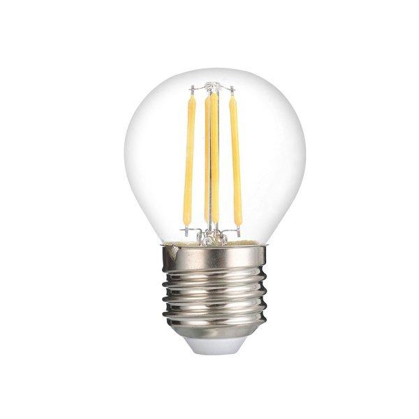 Stmívatelná retro LED žárovka E27 4W 320lm G45 teplá, filament, ekvivalent 48W