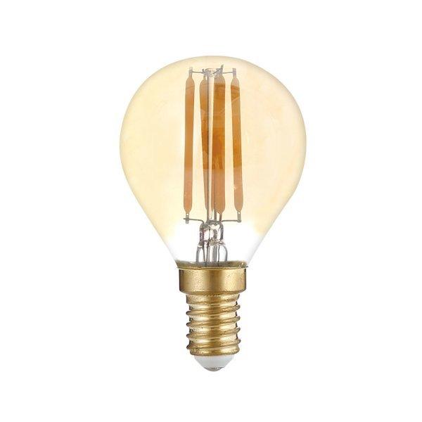 Stmívatelná Retro  LED žárovka E14 4W 400lm G45 extra teplá, filament, ekvivalent 27W
