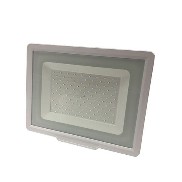 Ultratenký LED reflektor  bílý 100W 8000lm, studená