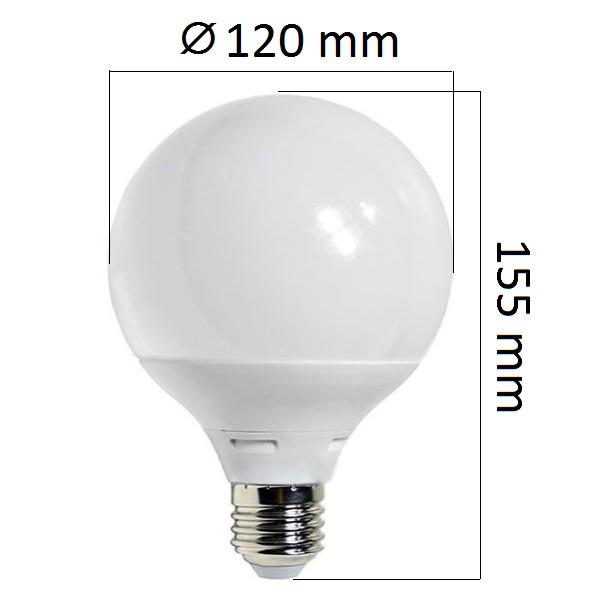 Akce: LED  žárovka E27 12W 960lm G95, denní 3+1
