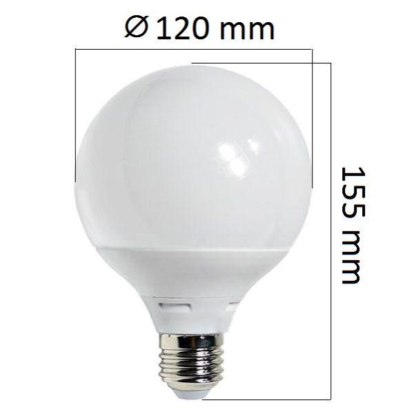 Akce: LED  žárovka E27 12W 960lm G95 teplá 3+1