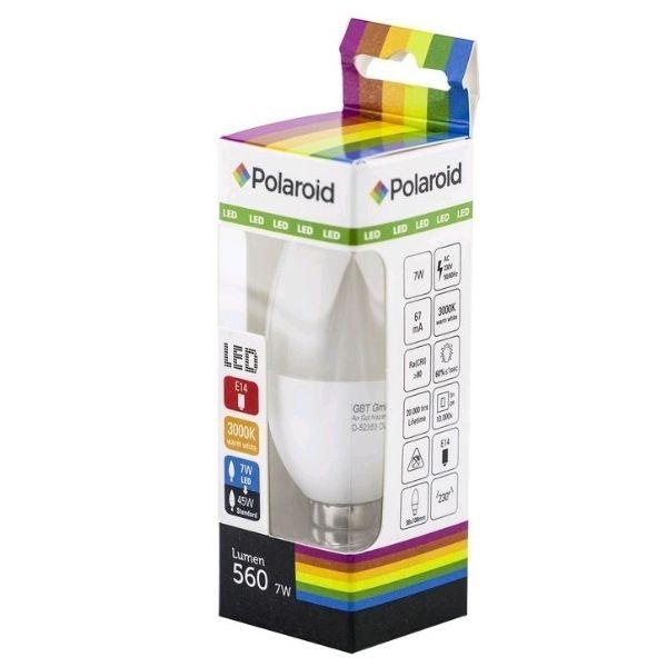 Akce: Polaroid LED žárovka E14 7W 560lm teplá 3+1