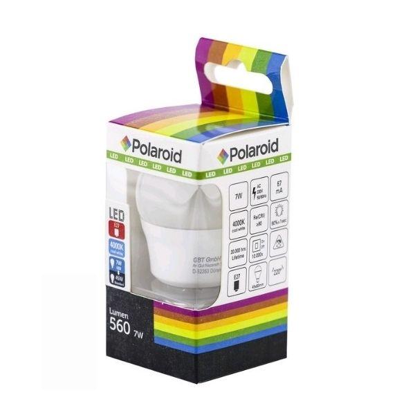 Akce: Polaroid LED žárovka E27 7W 560lm G45 denní 3+1