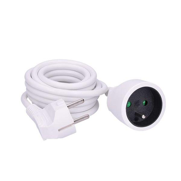 Prodlužovací kabel - spojka, 1 zásuvka, 3m, bílý