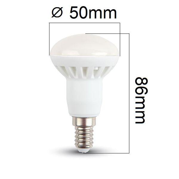 LED žárovka E14 6W 400lm R50 teplá,  ekvivalent 40W