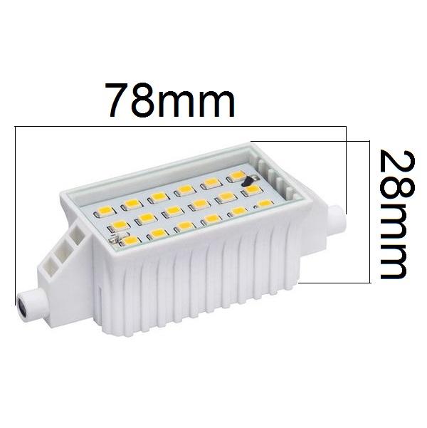 LED žárovka R7s 6W 500lm teplá, ekvivalent 46W