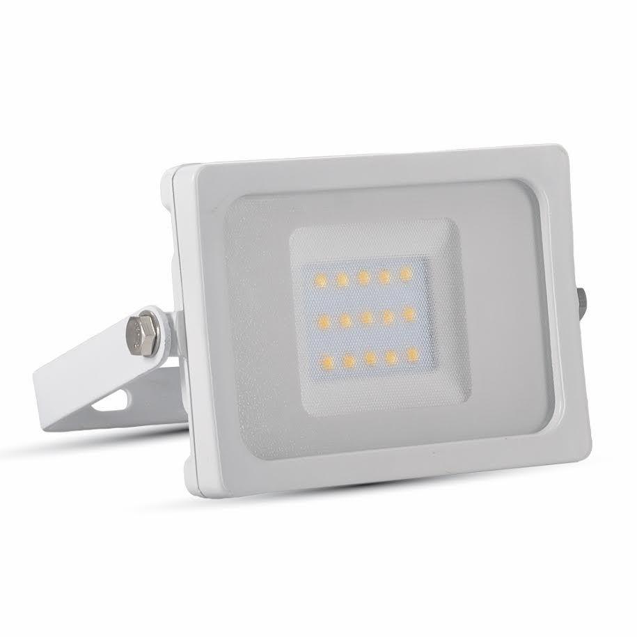 Ultratenký LED reflektor bílý 10W 800lm teplá