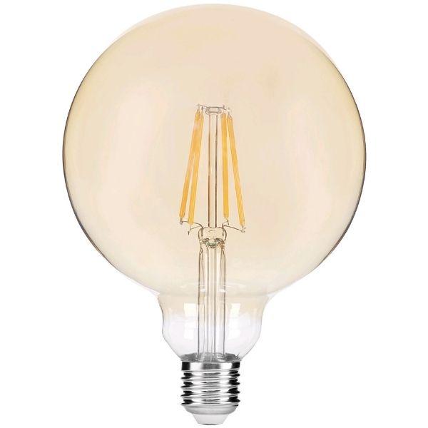 Stmívatelná prémiová retro LED žárovka E27 8W 720lm G95 extra teplá, filament, 3 roky