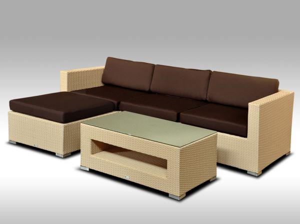 Luxusní rohová sedací souprava ALLEGRA VII písková 3-4 osoby + DÁREK