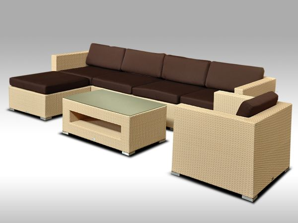 Luxusní rohová sedací souprava ALLEGRA X písková 5-6 osob + DÁREK