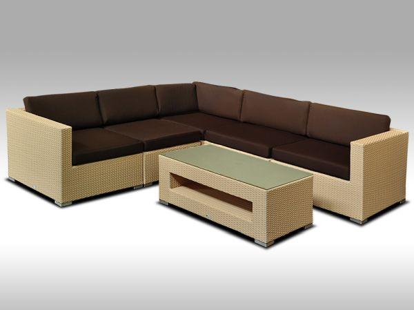 Luxusní rohová sedací souprava ALLEGRA XIII písková 4 osoby + DÁREK