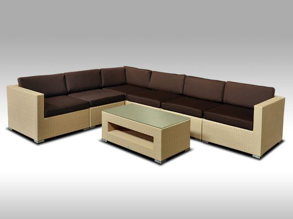 Luxusní rohová sedací souprava ALLEGRA XIV písková 5 osob + DÁREK