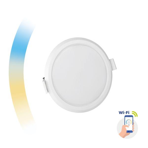 Chytrý LED panel 6W 520lm WIFI teplá, denní, studená (SMART), kruhový