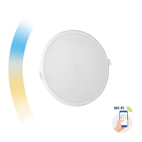 Chytrý LED panel 22W 2000lm WIFI teplá, denní, studená (SMART), kruhový