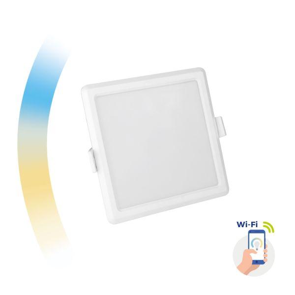 Chytrý LED panel 6W 520lm WIFI teplá, denní, studená (SMART), čtvercový