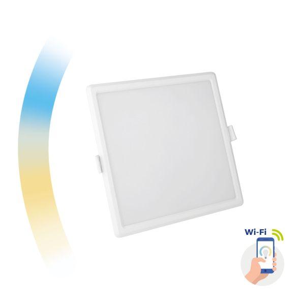 Chytrý LED panel 12W 1150lm WIFI teplá, denní, studená (SMART), čtvercový