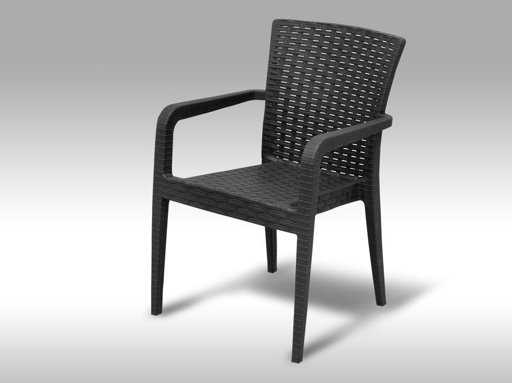 Zahradní plastová židle Valencia antracitová