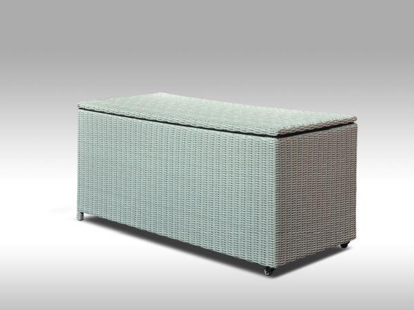 Box na polstry VINCENZO  šedý, kulatý ratan