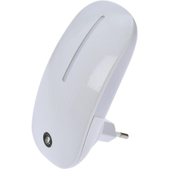 Noční LED světélko se světelným senzorem, 1W, 230V, bílé