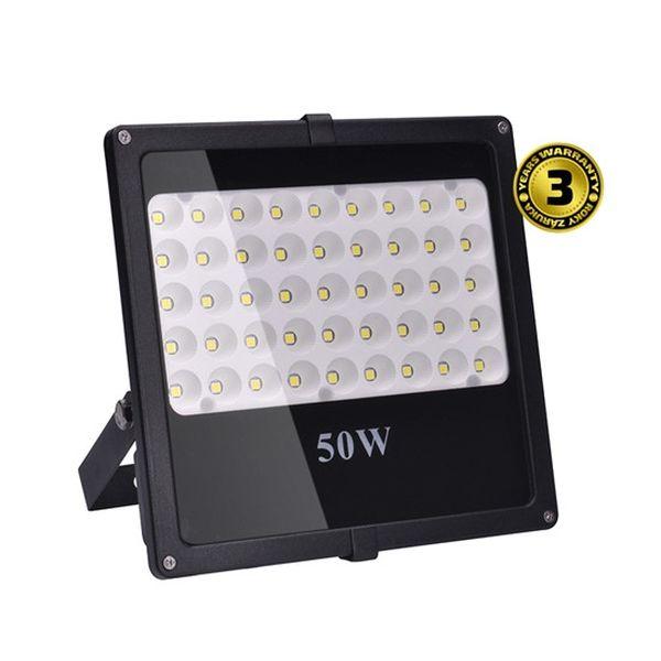 LED  venkovní reflektor, 50W, 4250lm, AC 230V, černá