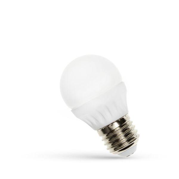 LED žárovka E27 6W 560lm G45 studená, ekvivalent 50W