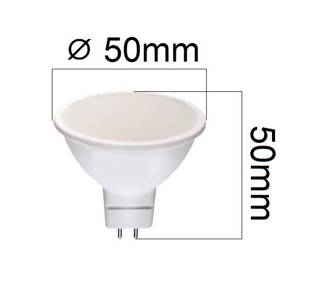 LED žárovka MR16 4W 290lm 12V studená, ekvivalent 29W