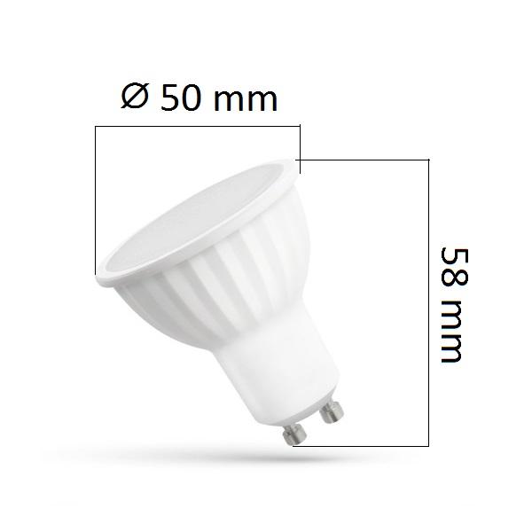 Akce: LED žárovka GU10 10W 780lm teplá 3+1