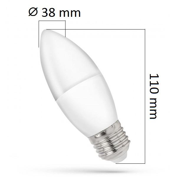 LED žárovka E27 8W 680lm, studená, ekvivalent 50W