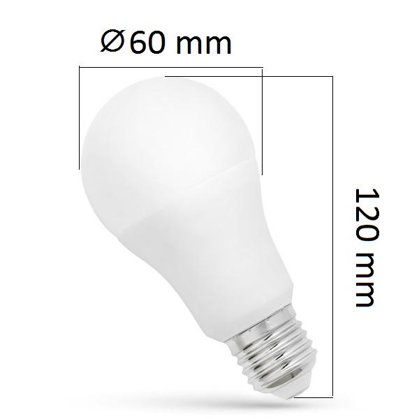 LED žárovka E27 11,5W 1070lm, studená, ekvivalent 72W