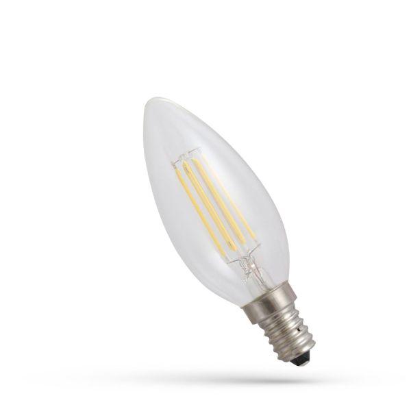 Retro LED žárovka E14 6W 850lm teplá, filament, ekvivalent 80W