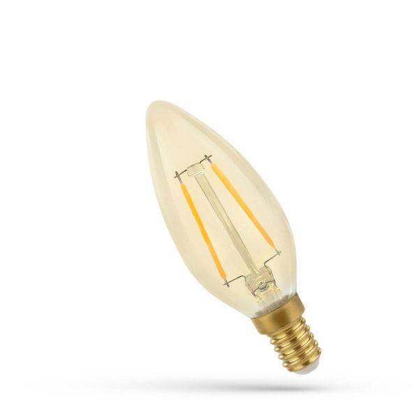 Retro LED žárovka  E14 5W 500lm extra teplá, filament, ekvivalent  41W