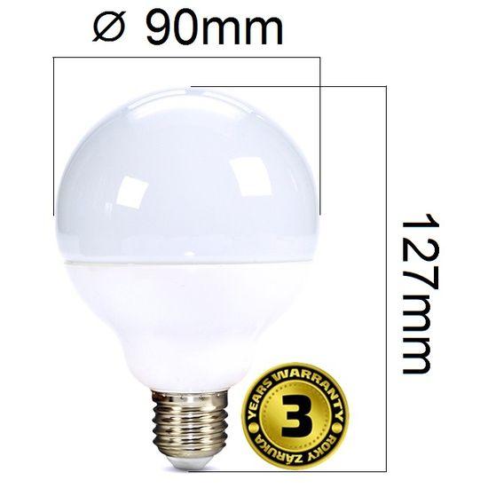 LED žárovka E27 15W G90 1250lm denní, ekvivalent 100W