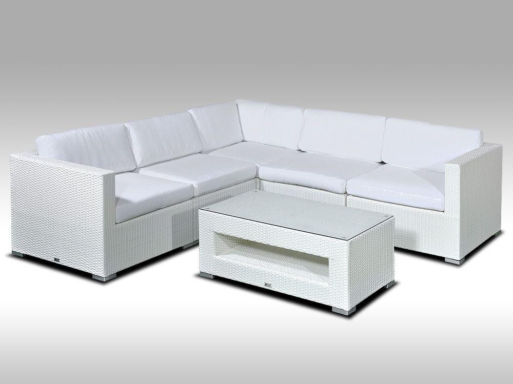Luxusní rohová sedací souprava ALLEGRA XIII bílá 4 osoby + DÁREK