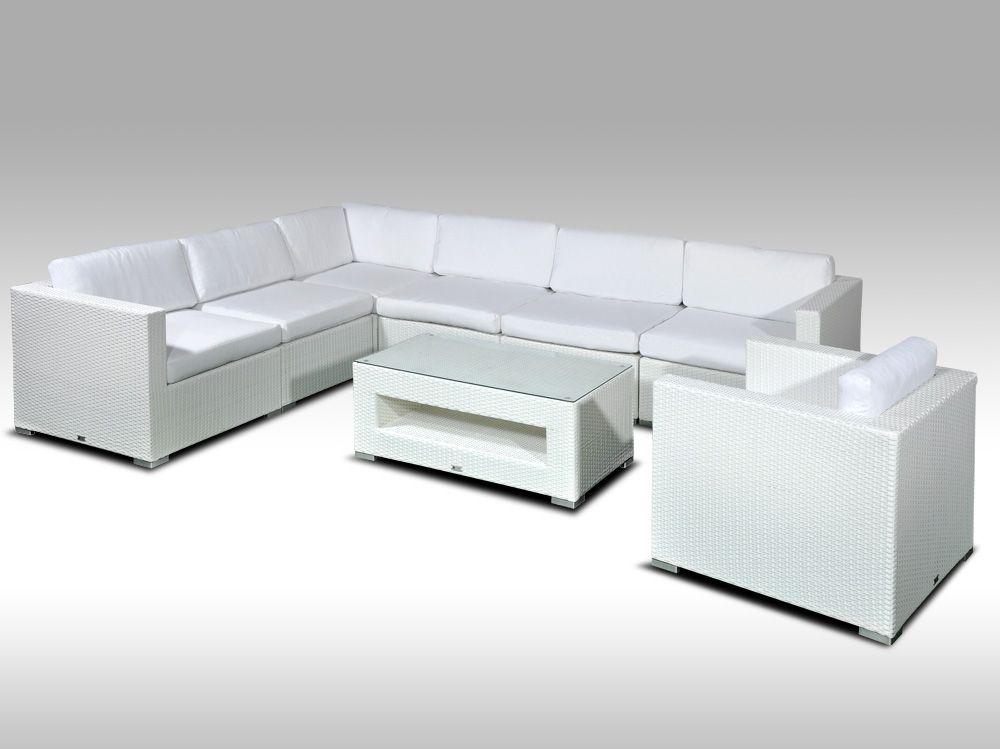 Luxusní rohová sedací souprava ALLEGRA XV bílá 6 osob + DÁREK